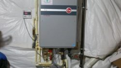 New Rheem tankless installed