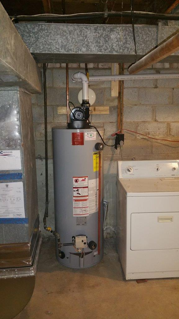 50 Gallon Natural Gas Vent Water Heater Installation
